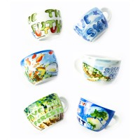 ANCAP Cappuccino kopjes - In our hands - set van 6