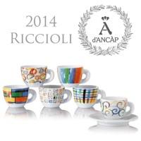 ANCAP Cappuccinokopjes Riccioli & Co. set van 6