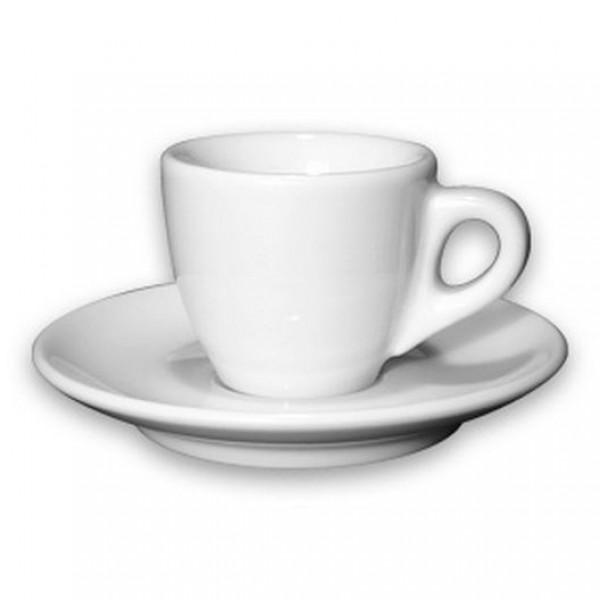 d'Ancap Palermo espresso - kop en schotel - Wit