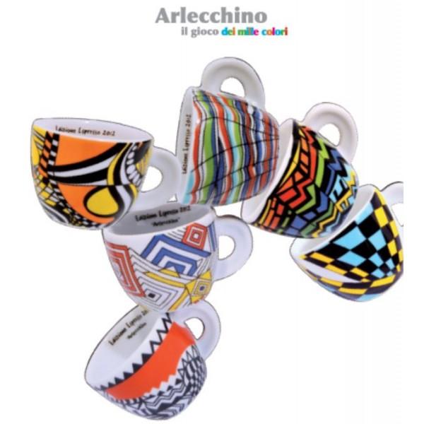 Ancap espresso kopjes Arlecchino set van 6