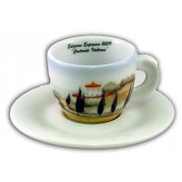 ANCAP Cappuccino kopjes Contrade italiane set van 6