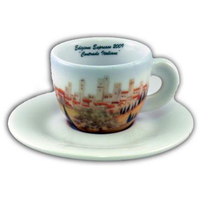 Cappuccinokopje met schotel -  Ancap - Serie Contrade Italiane