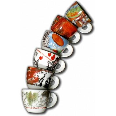 ANCAP Espresso kopjes Taccuini di viaggi set van 6