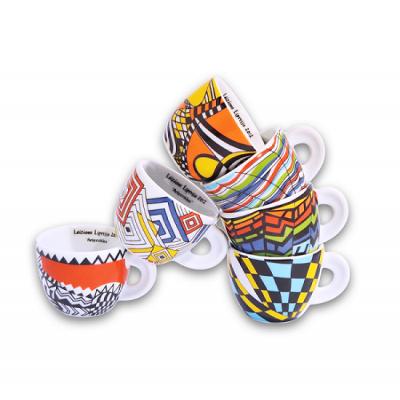 Ancap cappuccino kopjes Arlecchino set van 6