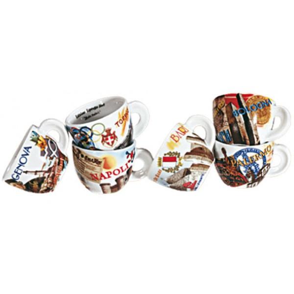 ANCAP Cappuccino kopjes bella italia due set van 6