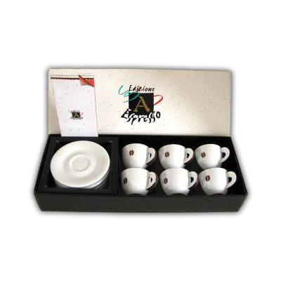 Espressokopjes ancap set van 6 geschenk