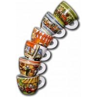 ANCAP Espressokopjes Mercatini set van 6