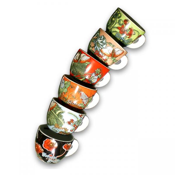 ANCAP Espressokopjes Storie di Giardini set van 6