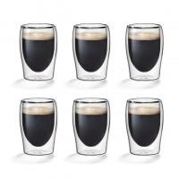 Dubbelwandige espressoglaasjes 0,08L. set van 6