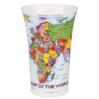 Grote mok - Dunoon - Map of the World - 500ml