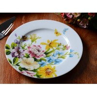 Sideplate wit - Katie Alice - English garden