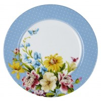 Sideplate blauw - Katie Alice - English garden