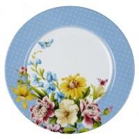 Sideplate blauw - Katie Alice - English garden
