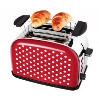 Broodrooster polkadot rood met witte stippen - Kalorik