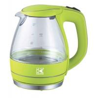 Waterkoker glas blauw led licht - 1,5 liter 2200 Watt - Groen