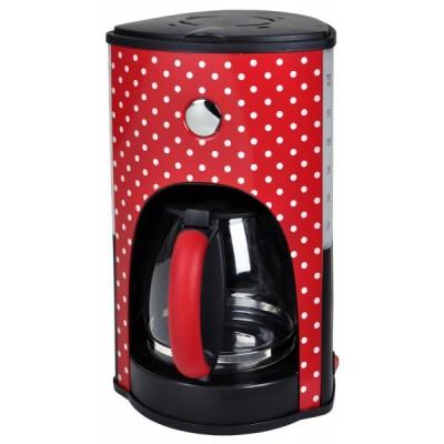 Koffiezetapparaat polkadot rood met witte stippen - 1000W - Kalorik