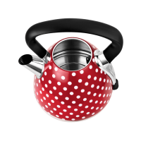 Waterkoker polkadot rood met witte stippen - RVS - 2400W - Kalorik