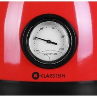 Waterkoker Klarstein Aquavita - 1,5l - Thermometer - Rood