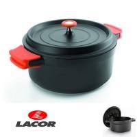 Aluminium braadpan - 24 cm - Lacor - Zwart