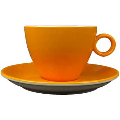 Cappuccinokopje - Maastricht porselein - Bart Colour - Oranje