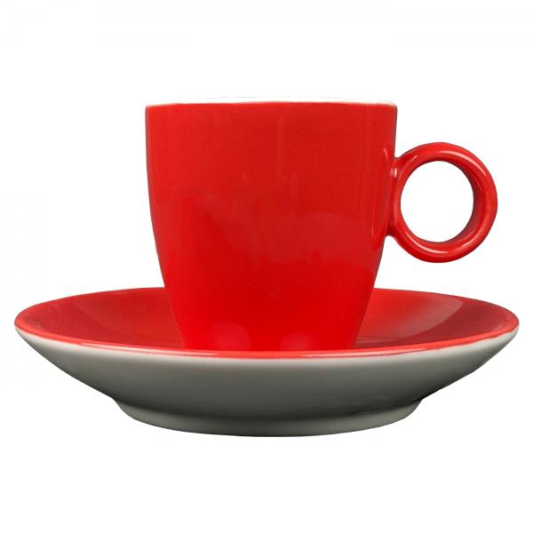 Koffiekopje - Maastricht porselein - Bart Colour - Rood