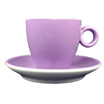Koffiekopje - Maastricht porselein - Bart Colour - Paars