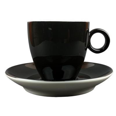 Koffiekopje - Maastricht porselein - Bart Colour - Zwart