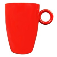 Mok - Maastricht porselein - Bart Colour - Rood