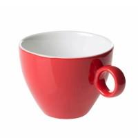 Cappuccinokopje - Maastricht porselein - Bart Colour - Rood