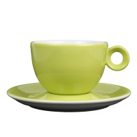 Cappuccinokopje met schotel - 200ml - Mosterdman - Groen