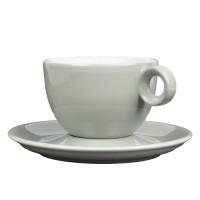 Cappuccinokopje met schotel - 200ml - Mosterdman - Grijs