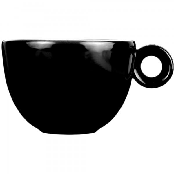 Cappuccinokopje - 200ml - Mosterdman - Zwart