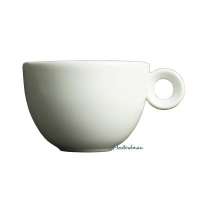 Mosterdman porselein - cappuccinokop 200ml - Kop - Wit