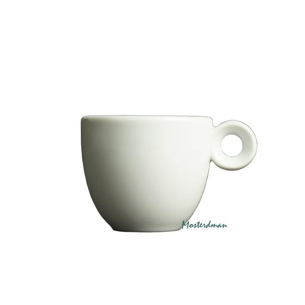 Mosterdman porselein - espresso 80ml - Kop - Wit