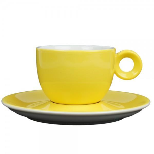Geel koffiekopje met schotel - 150ml - Mosterdman
