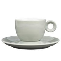 Grijs koffiekopje met schotel - 150ml - Mosterdman