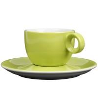 Groen koffiekopje met schotel - 150ml - Mosterdman