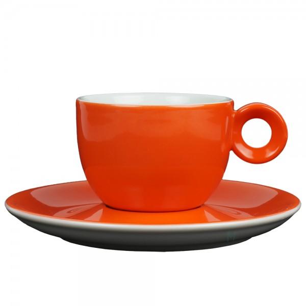 Oranje koffiekopje met schotel - 150ml - Mosterdman