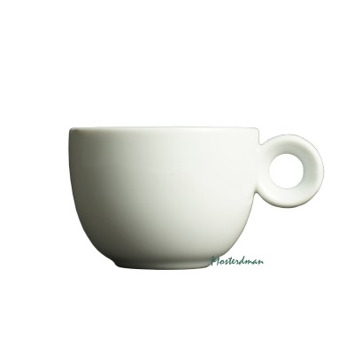 Mosterdman porselein - koffiekop 150ml - Kop - Wit
