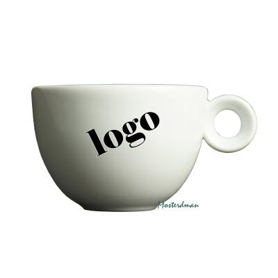 Mosterdman cappuccinokopje bedrukt met logo