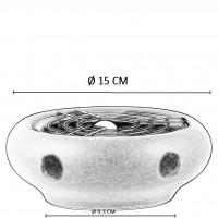 Theelicht - Wit - keramiek - Voor alle theepotten