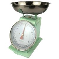 Analoge retro keukenweegschaal licht groen