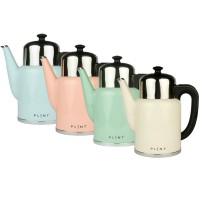 Dubbelwandige waterkoker met temperatuurregeling - Pure Kettle Almost Black