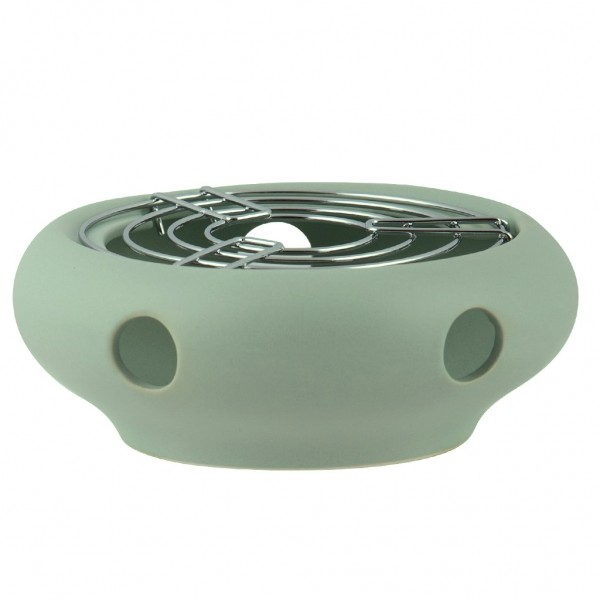 Theelicht - Mat mint - keramiek - Voor alle theepotten