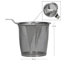 Theepot 2,5 liter met theewarmer - donker grijs