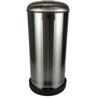 Prullenbak - pedaalemmer - Rixx - 30 liter -RVS