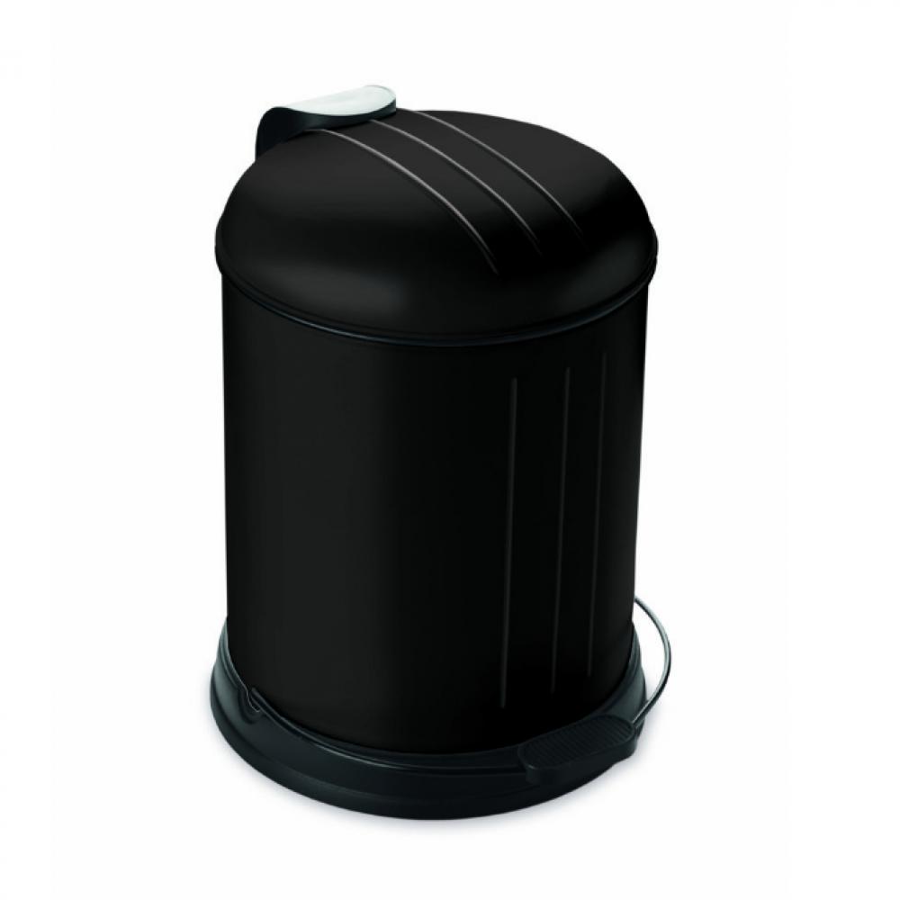 Zwart Rvs Prullenbak.Prullenbak Pedaalemmer Rixx 5 Liter Mat Zwart