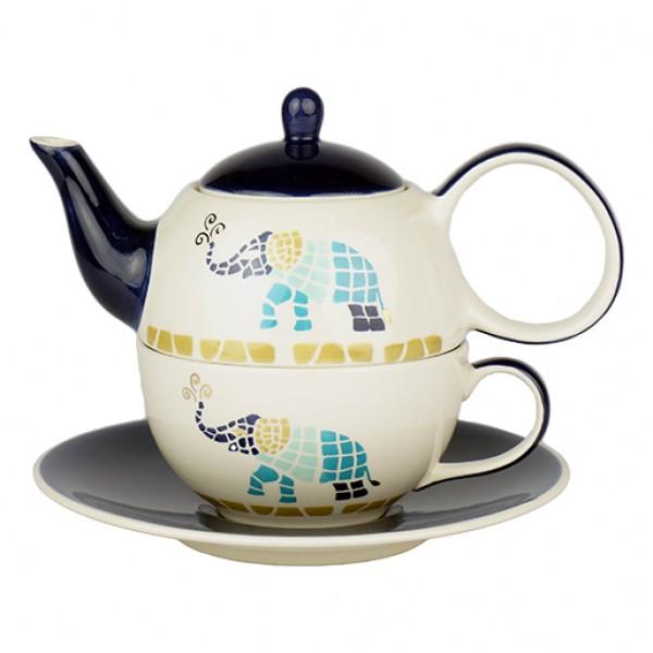 Tea for one set Voi - keramiek met goud