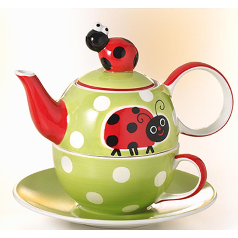 tea for one set molly keramiek lieveheersbeestje. Black Bedroom Furniture Sets. Home Design Ideas