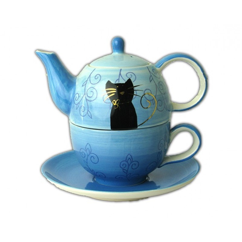 tea for one set filou keramiek. Black Bedroom Furniture Sets. Home Design Ideas
